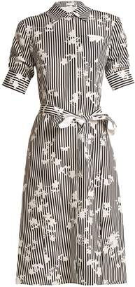 Altuzarra Kieran point-collar stripe-print dress