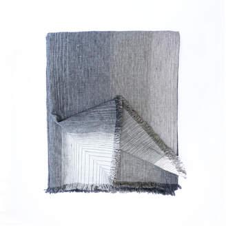 Area Miles Blue & Gray Linen Throw