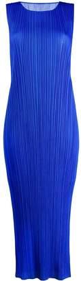 Pleats Please Issey Miyake micro-pleated long dress