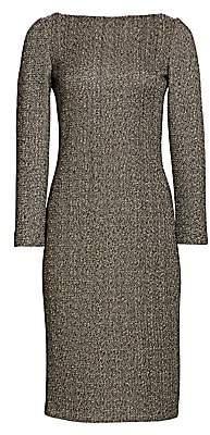 St. John Women's Golden Evening Shimmer Knit Midi Dress
