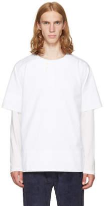 Phoebe English White Double Button Shirt