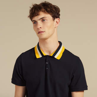 Sandro Cotton polo shirt with varsity collar