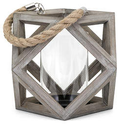Breakwater Bay Wood Lantern Candle Holder