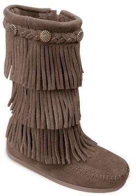 Minnetonka Children's 3 Layer Fringe Boots