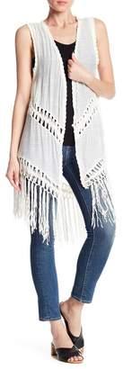 Angie Crochet Fringe Vest