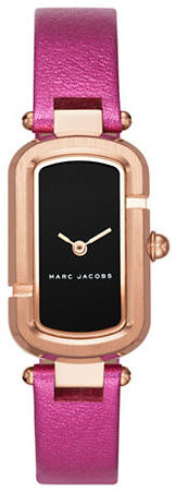 Marc Jacobs Marc Jacobs Rose Goldtone Stainless Steel and Metallic Leather Two-Hand Analog Watch