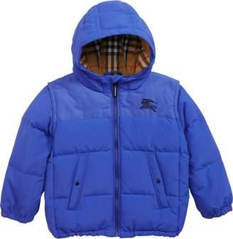 Burberry Mini Ezra Hooded Down Jacket