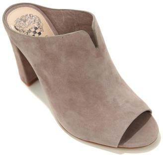 Vince Camuto Sarina Leather Open-Toe Mule $129 thestylecure.com