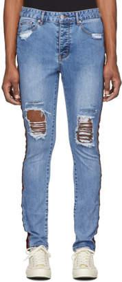 Stolen Girlfriends Club Blue Trashed Tuxedo Jeans