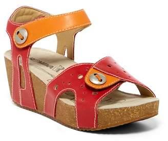 Romika Florida Buttoned Platform Wedge Sandal