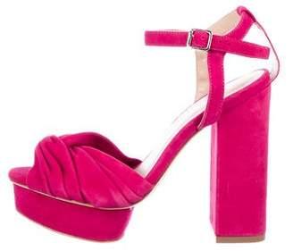 Loeffler Randall Suede Platform Sandals