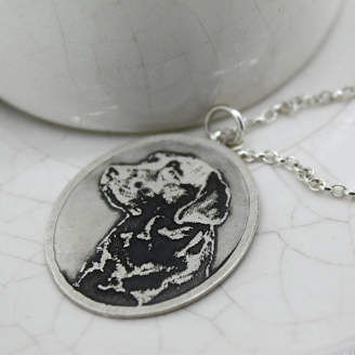 Nicola Crawford Personalised Silver Pet Photo Pendant
