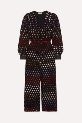 Temperley London Wendy Sequined Chiffon Jumpsuit - Black
