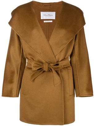 Max Mara belted cape coat