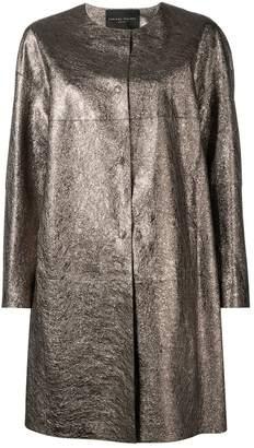 Fabiana Filippi metallic single-breasted coat