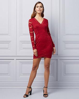 Le Château Lace Cutout Back Cocktail Dress