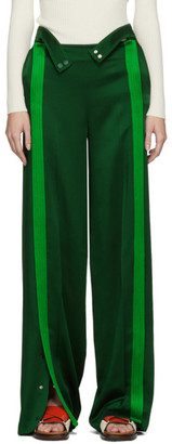 Valentino Green Crepe Lounge Pants