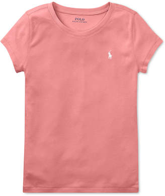 Polo Ralph Lauren Big Girls Crew-Neck T-Shirt