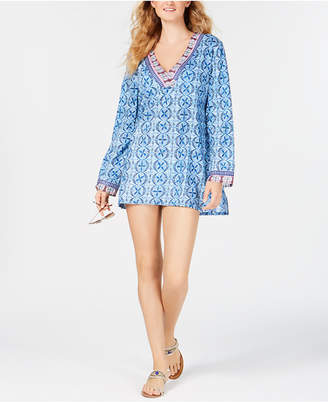 LaBlanca La Blanca Realist Printed Tunic Cover-Up Women Swimsuit