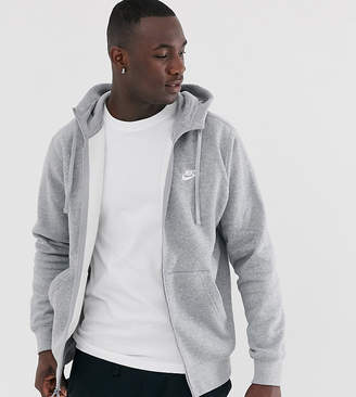 44a3b0882 Nike Tall zip up hoodie with futura logo in grey