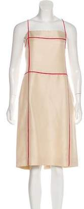 Valentino Silk Sheath Dress