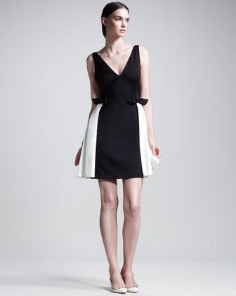 Valentino Techno Couture Bi-Color Open-Back Dress