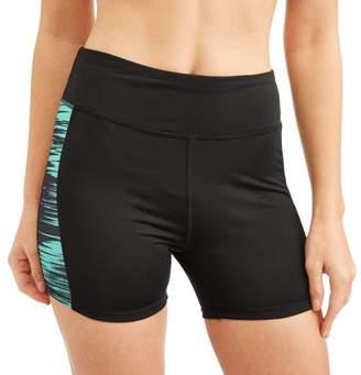 Generic Women's Active Performance Printed Waistband Bike Shorts