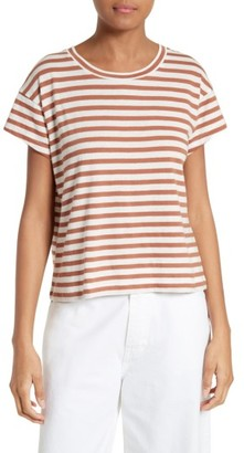 Women's Vince Bold Stripe Relaxed Tee $85 thestylecure.com