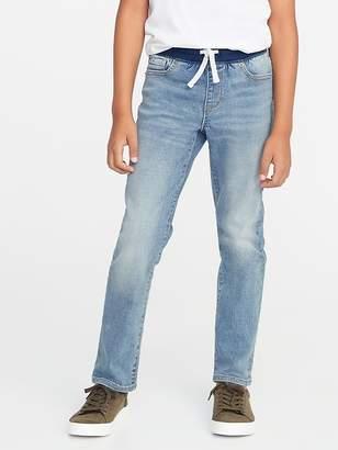 Old Navy Karate Rib-Knit Waist Slim Built-In Flex Max Jeans for Boys