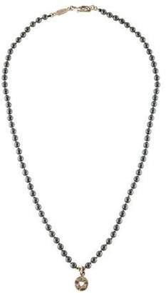 18K Hematite Bead Necklace