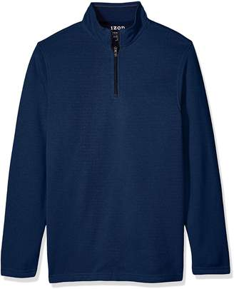 Izod Men's Big Saltwater Solid 1/4 Zip Sweater