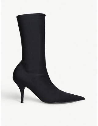 Balenciaga Ladies Black Knife 110 Spandex Heeled Ankle Boots