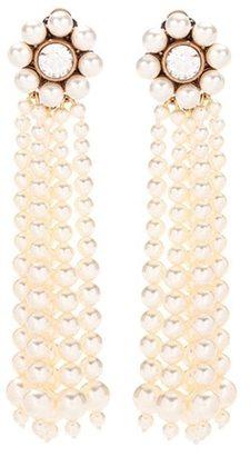 Faux pearl clip-on earrings