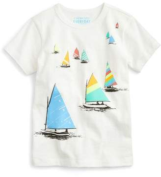J.Crew crewcuts by Sailboats Print T-Shirt