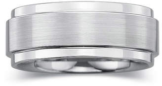 JCPenney MODERN BRIDE Personalized Mens 8mm Comfort Fit Tungsten Carbide Wedding Band