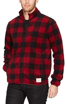 Lucky Brand Men's Shearless Fleece Buffalo Check Sweater
