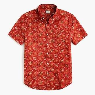 J.Crew Short-sleeve Secret Wash shirt in desert floral print