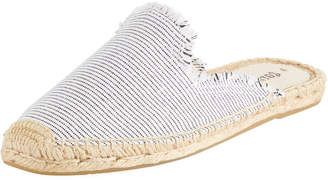 Soludos Frayed Striped Espadrille Mule