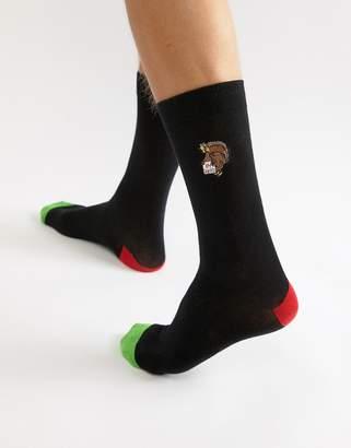 Brave Soul Holidays Stuffed Turkey Socks