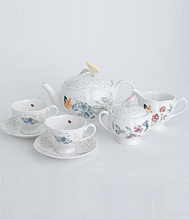 Lenox Butterfly Meadow 8-Piece Floral Porcelain Tea Set