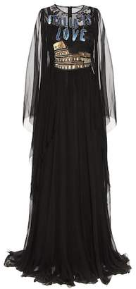 Dolce & Gabbana Embellished silk gown