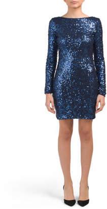Lola Long Sleeve Sequin Dress