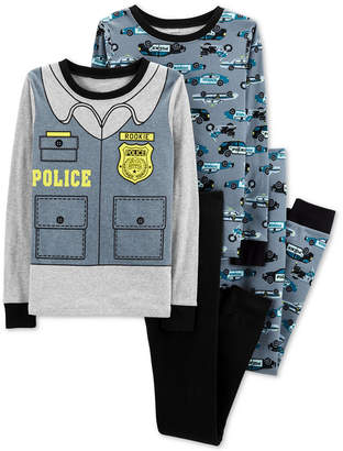 Carter's Little & Big Boys 4-Pc. Police Cotton Pajama Set