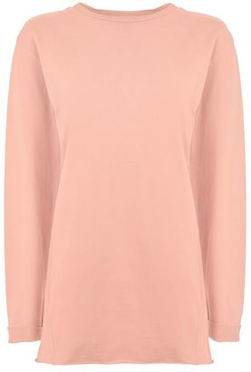 Topshop Long sleeve nibbled t shirt $32 thestylecure.com