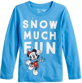 """Disneyjumping Beans Disney's Mickey Mouse Boys 4-12 """"Snow Much Fun"""" Softest Graphic Tee by Jumping Beans"""