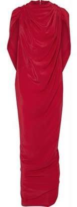 Rick Owens Draped Crepe De Chine Gown