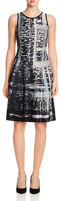 NIC and ZOE Printed Twirl Dress $228 thestylecure.com