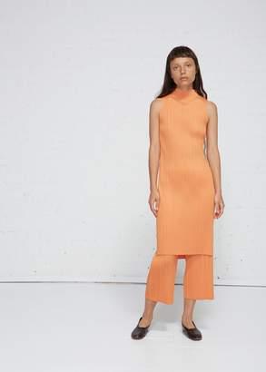 Pleats Please Issey Miyake Sleeveless High-Neck Dress