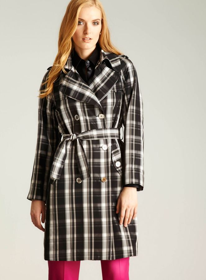 D&G Plaid Double Breasted Trench