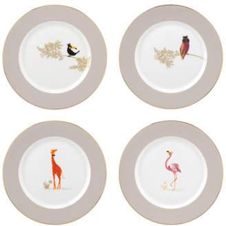 Portmeirion Sara Miller Assorted Dessert Plates, Set of 4